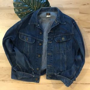 Vintage Lee Jean Jacket / Men's Small, W Large